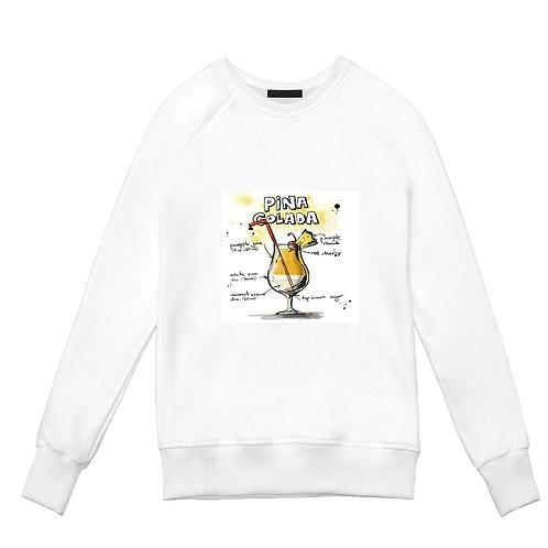 Белый свитшот с Пина-коладой