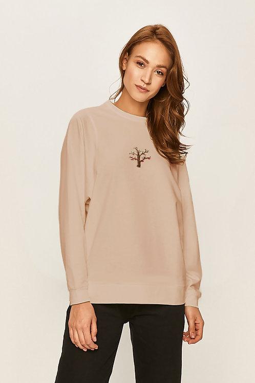 Свитшот с ручной вышивкой Розовое дерево