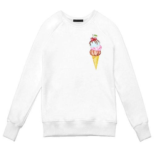 Белый свитшот с Мороженым