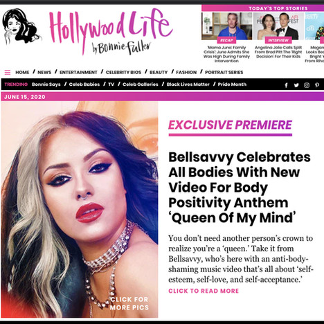 BODY POSITIVITY QUEEN: BELLSAVVY PREMIERE HER DEBUT MUSIC VIDEO ON HOLLYWOOD LIFE