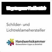 Schilder- und Lichtreklamehersteller gemäß Handwerkskammer Ostwestfalen-Lippe zu Bielefeld