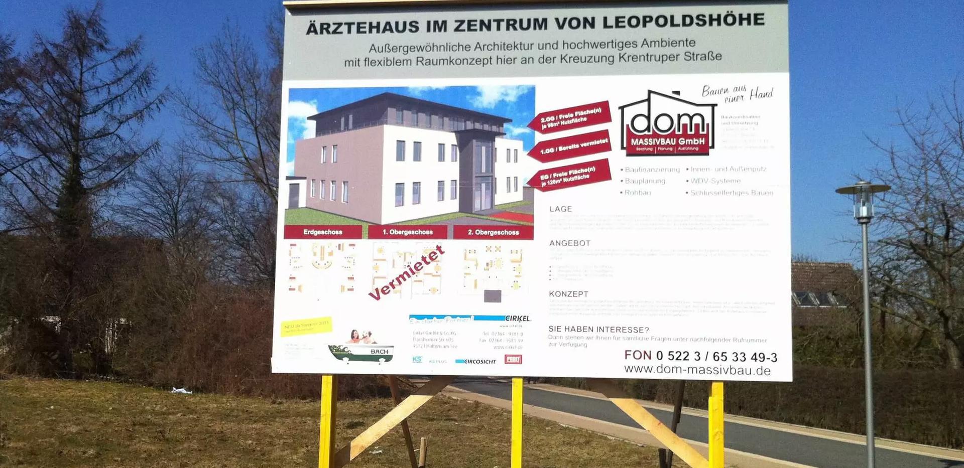 Werbeschild-Luebbecke-Augustdorf-Bielefe