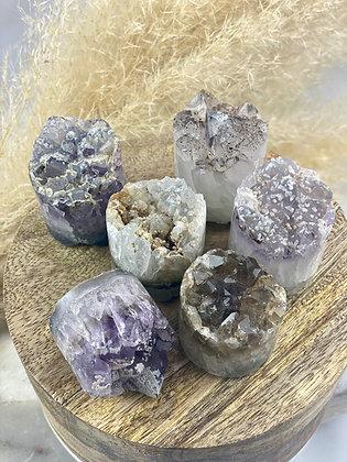 (1) Amethyst Calcite Cupcake