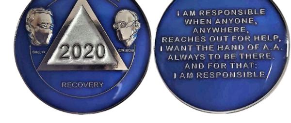 Commemorative 2020 Bill & Bob Mask Medallions