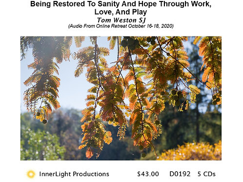 Being Restored To Sanity And Hope Through Work, Love, And Play