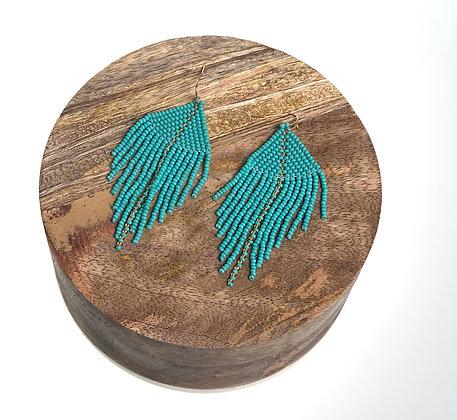 Raya Beaded Earrings Turquoise