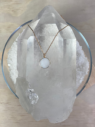 Moonstone Medallion Necklace