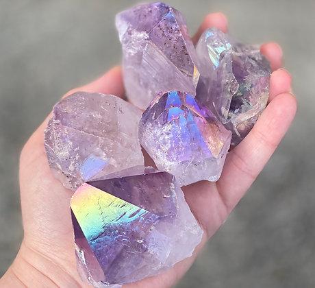 (1) Angel Aura Amethyst Crystal Point
