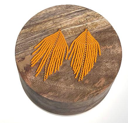 Raya Beaded Earrings Mandarin