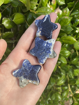 Sodalite Carved Star