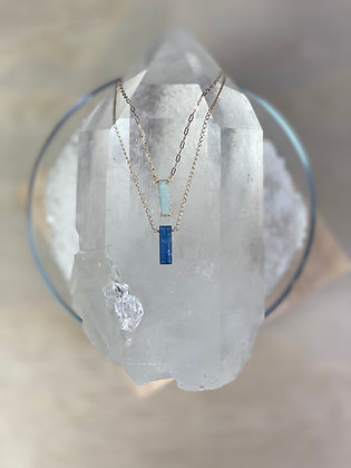 Kyanite & Druzy Necklace Set
