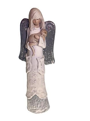 Angel Holding Cat