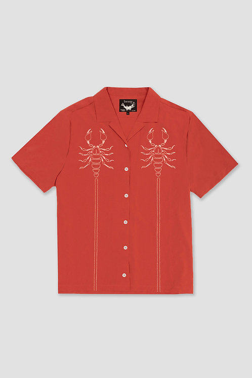 Indian Red Embroidered Shirt