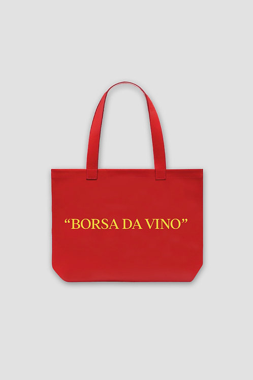 Borsa Da Vino Tote Bag - Red