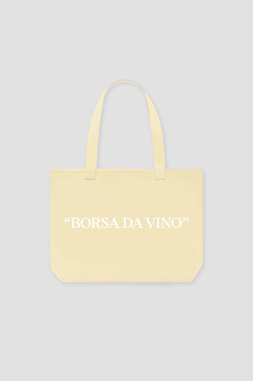Borsa Da Vino Tote Bag - Cream Yellow