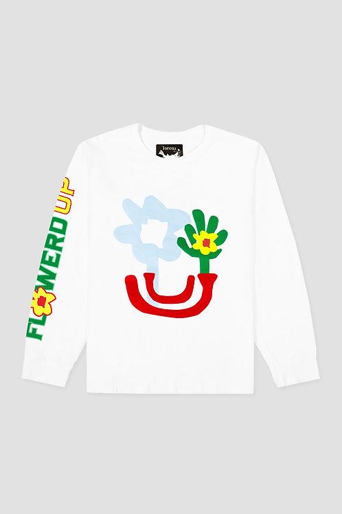 Flowered Up Long Sleeve - White
