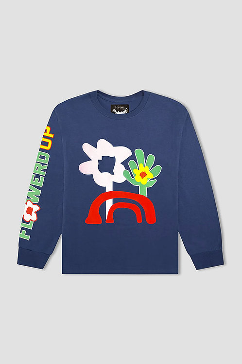 Flowered Up Long Sleeve - Blue