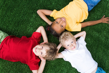 graphicstock-group-of-children-lying-on-