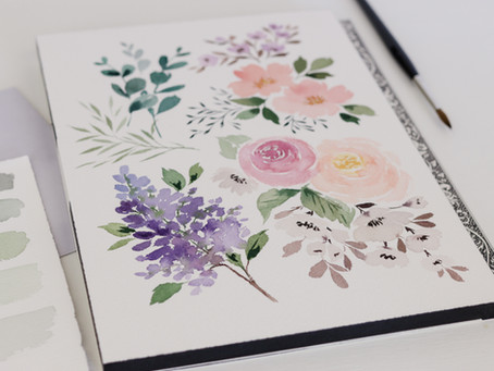 5 Simple Watercolor Flowers you can Master Today