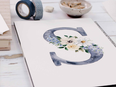 How to Paint a Floral Letter
