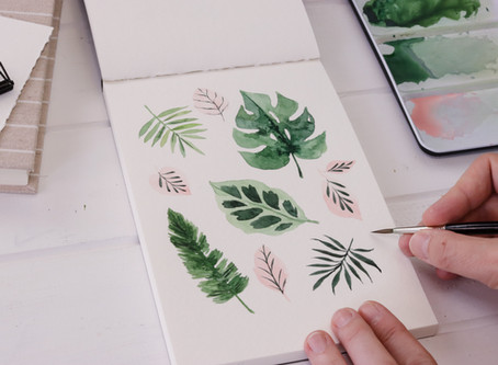 Tropical Leaves in Watercolour