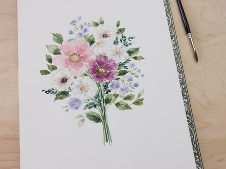 How I Paint Flowers in Real-time