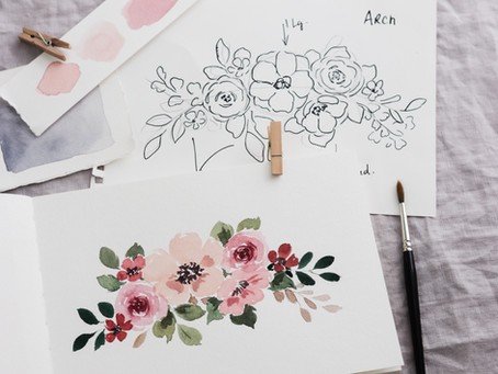 Designing a Watercolor Floral Painting