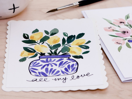 15 Minute Watercolor Cards
