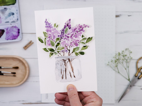 Lilac Cut-out Card