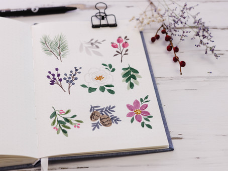 9 Mini Marker Flowers To Fill Your Journal