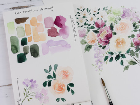 Watercolor Flowers: From Blank Page To Amazing Artwork