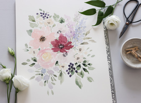 How to Paint Loose Watercolor Flowers for Beginners