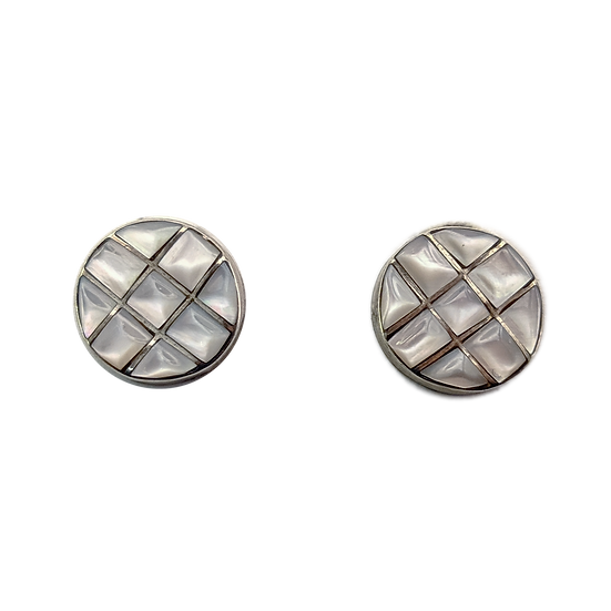 Sterling Silver and Mother of Pearl Clip-on Earrings