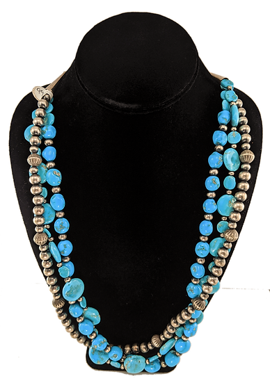 Sterling Silver and Turquoise Beads, Sleeping Beauty