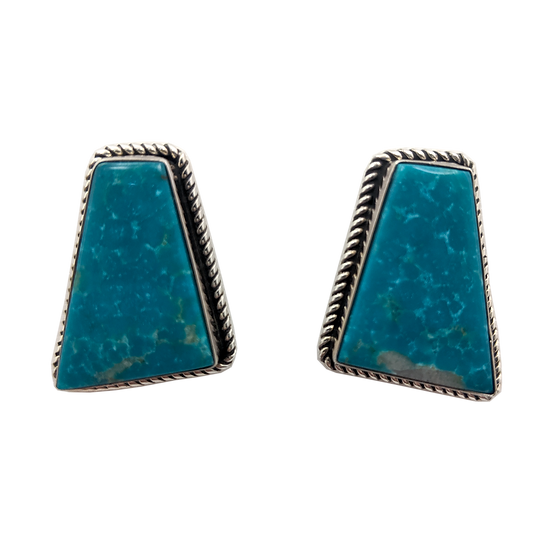 Sterling Silver and Turquoise Clip-on Earrings