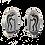 Thumbnail: Sterling Silver Clip-on Earrings