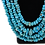 Thumbnail: Turquoise Bead Necklace, Natural Sleeping Beauty
