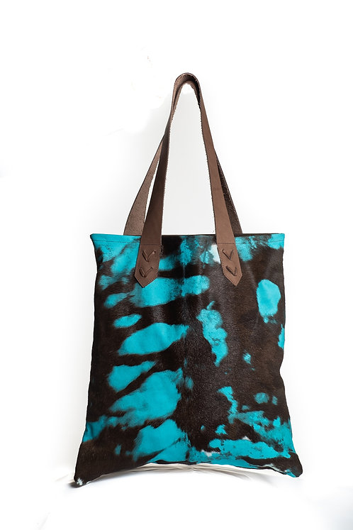 Turquoise Cowhide Bag
