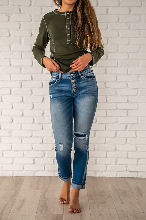 Everyday Wear Straight Leg Jeans