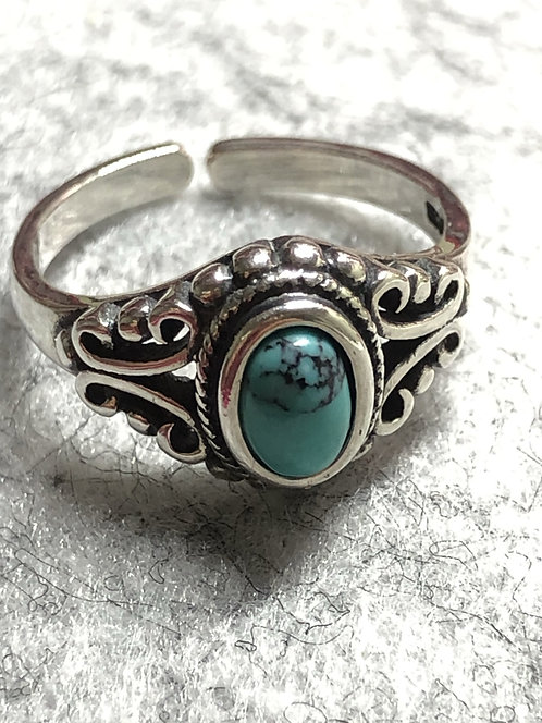 Wear the sky turquoise sterling silver ring