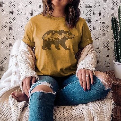 Geometric Bear Graphic T-Shirt