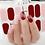 Thumbnail: Block Red Gel Nail Wraps