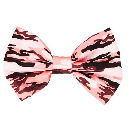 Frenchiestore Dog Bowtie | Pink Ultimate Camo