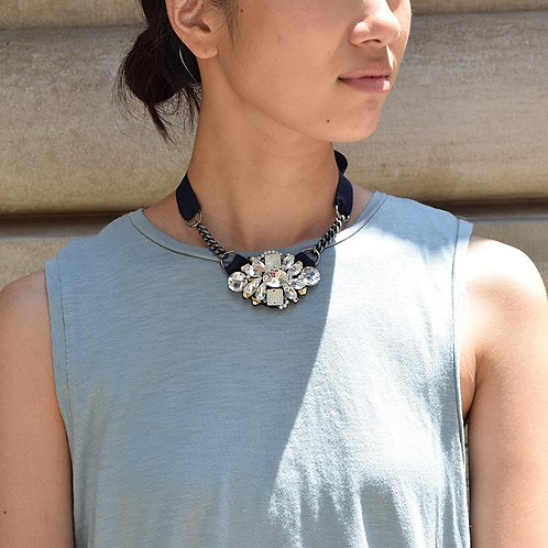Mulberry - Ribbon Necklace
