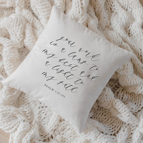 Your Word is a Lamp Unto My Feet Verse Pillow
