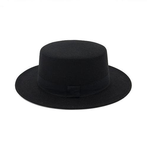 SYMMETRY - BLACK BOATER HAT