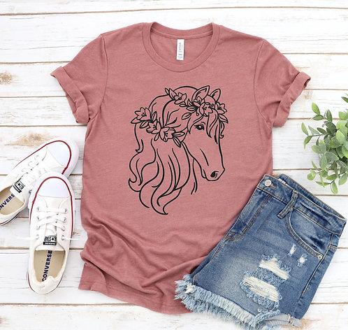 Floral Horse Shirt