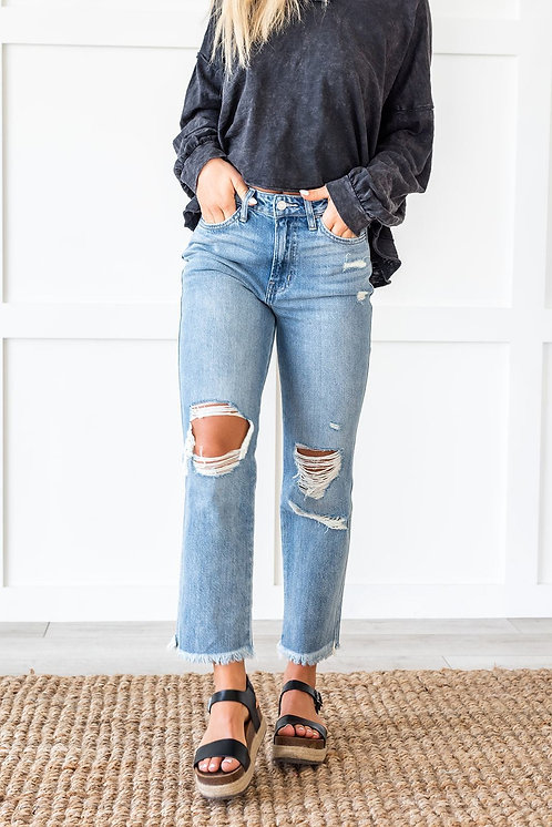 On the Run Distressed Jeans
