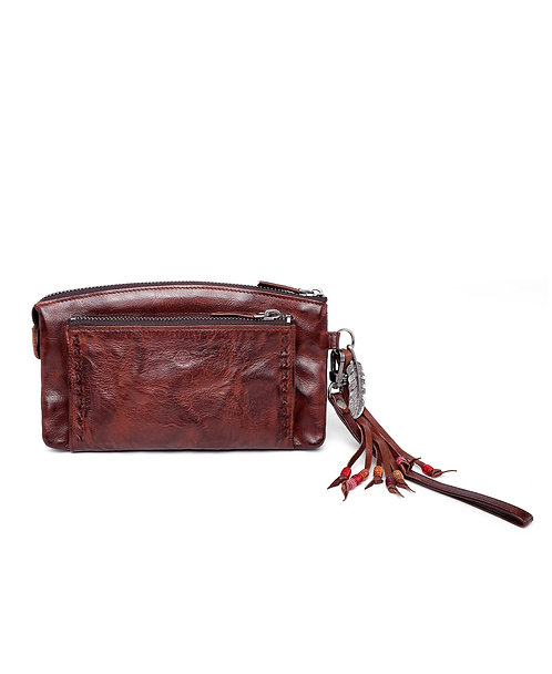 Bluebell Leather Clutch