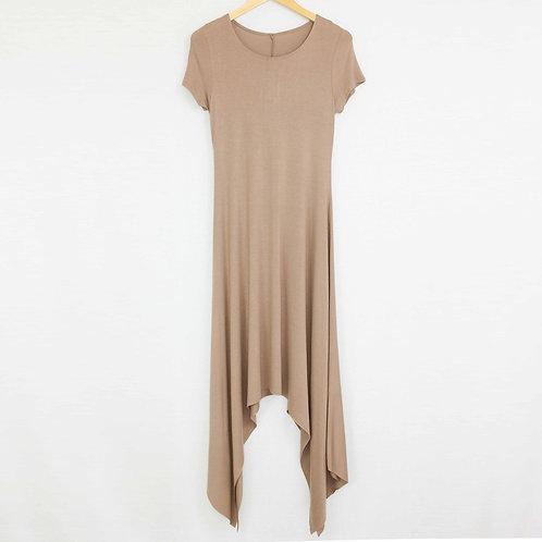 Short Sleeve Side Tails Maxi Dress